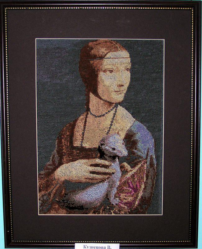 """""""Дама с горностаем """" (Леонардо да Винчи) ."""